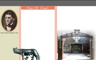 Boston Latin School Homepage Template