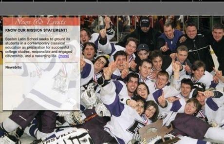 Boston Latin School Full Screen Homepage Template