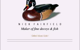 Nick Fairfiled Decoy Carver