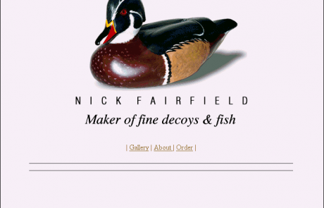Nick Fairfiled Decoy Carver