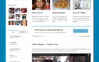 Marshmallow Fluff Homepage