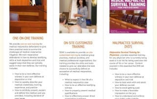 Malpractice Testifying Training - Homepage