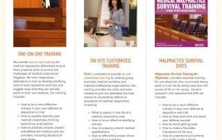 Malpractice Testifying Training - Homepage