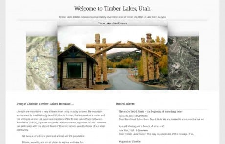 Timber Lakes, Utah Homepage