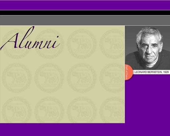 Boston Latin School Alumni Page Template