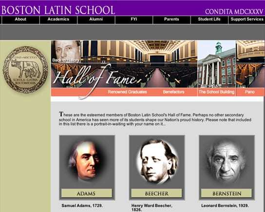 Boston Latin School Hall of Fame