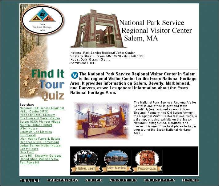 Essex National Heritage Area NPS Regional Visitor Center