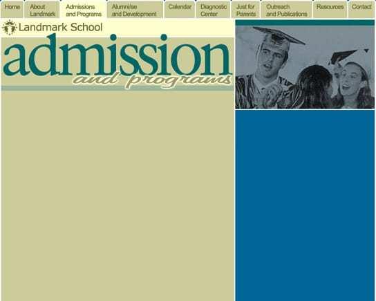 Landmark School Admissions Page