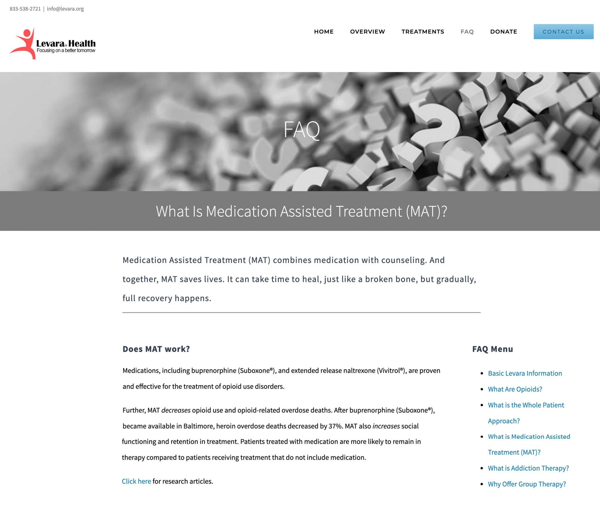 Levara Health - FAQ