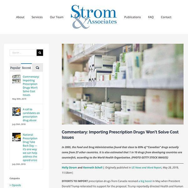 Strom and Associates - Blog